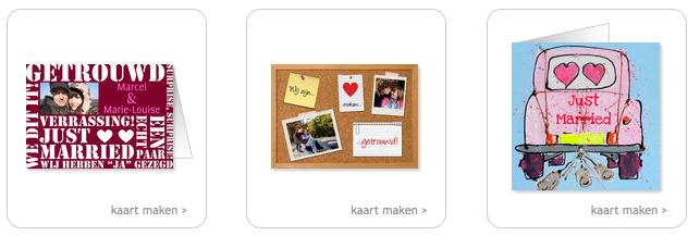 Pas getrouwd kaarten collectie