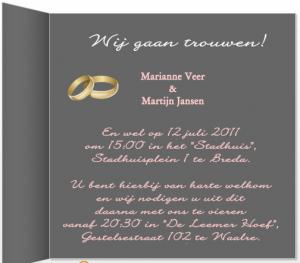 voorbeeld trouwkaart