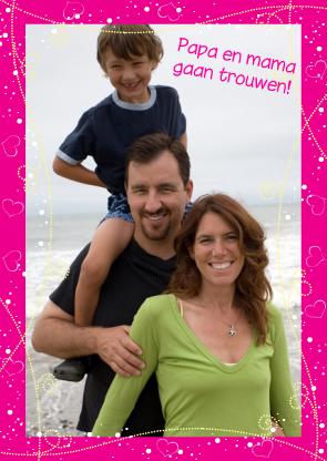 trouwkaart met kind
