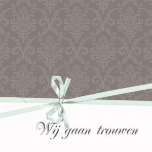 barok-trouwkaart-bruin