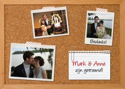 bedankkaart-huwelijk-prikbord