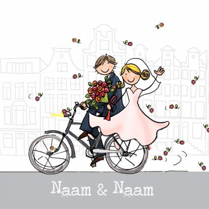 bruidspaar-op-fiets
