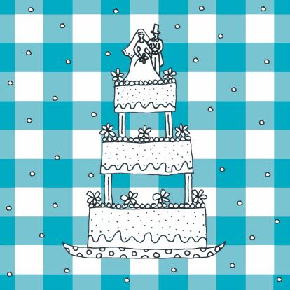 bruidstaart-blauwe-ruit
