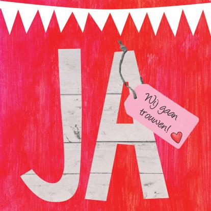 ja-trouwkaart-label-eigen-tekst