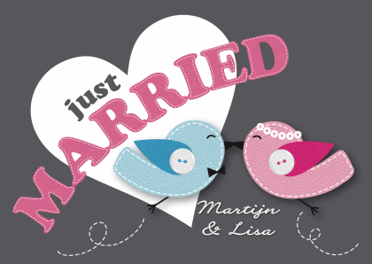 just-married-happy-birds