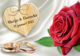 trouwkaart met trouwringen