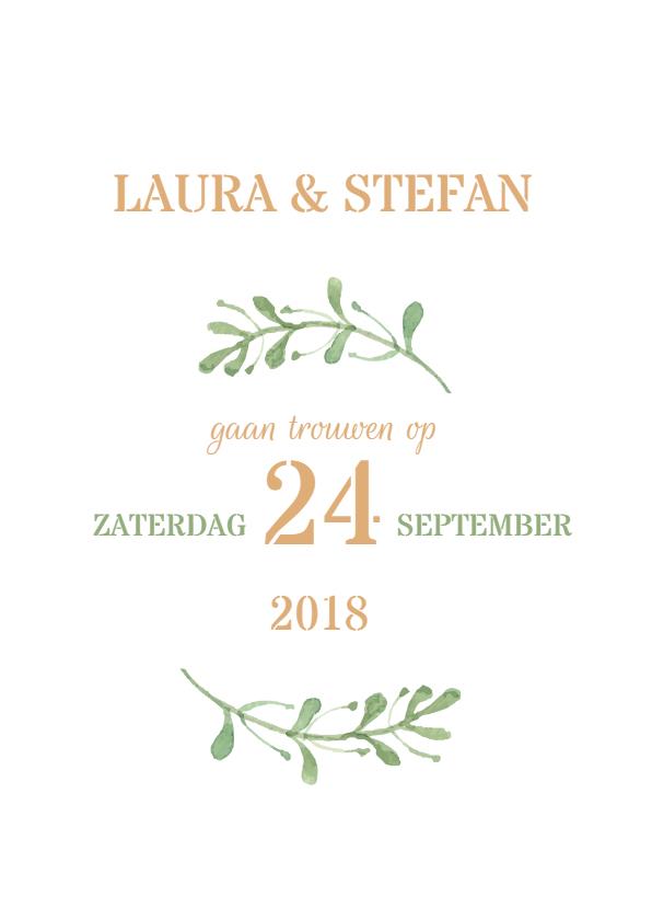 formele bruiloft uitnodiging