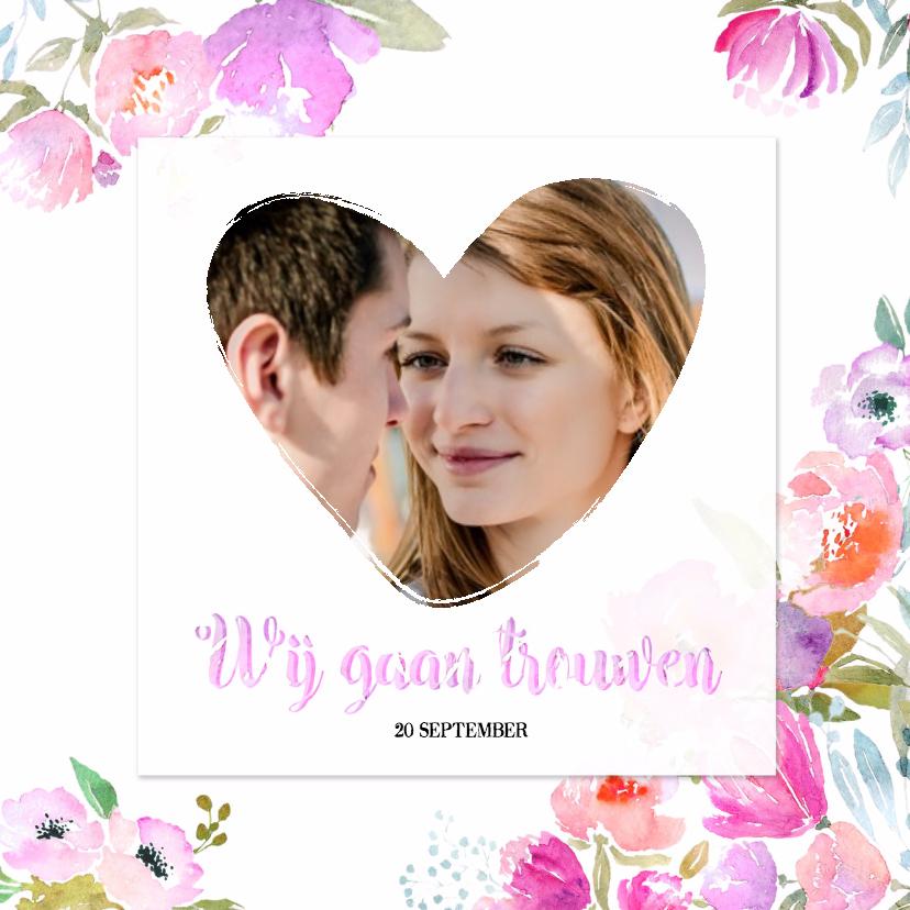 foto trouwkaart