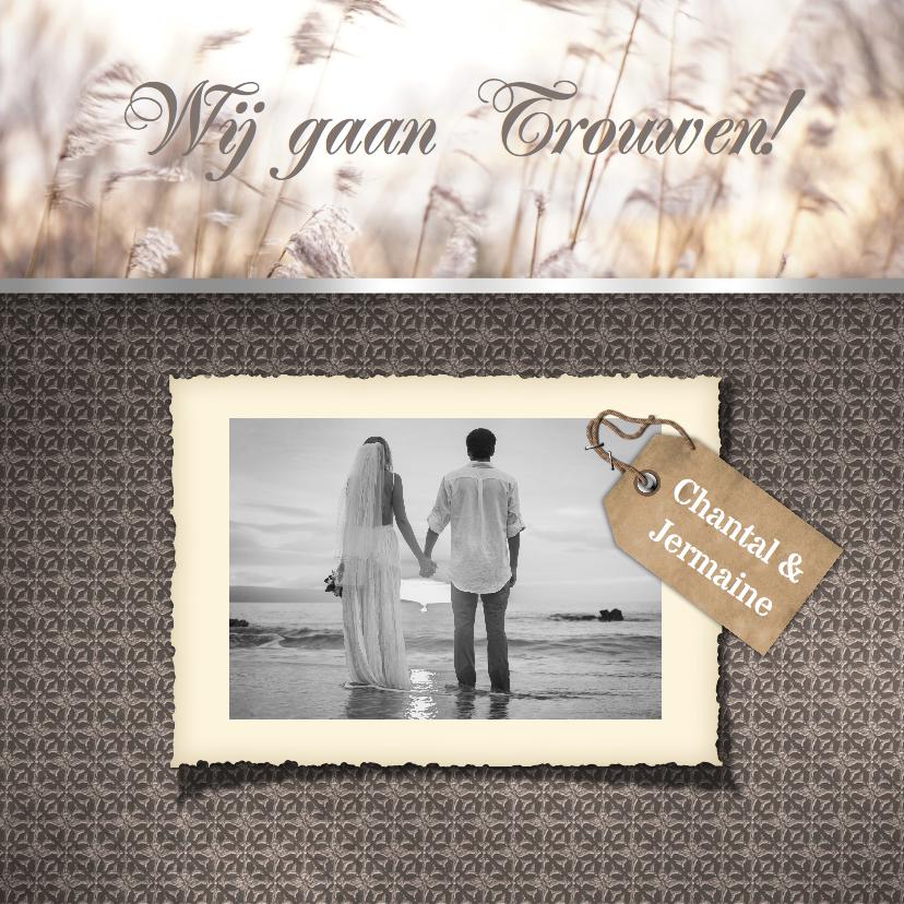 trouwkaart voor landelijke bruiloft