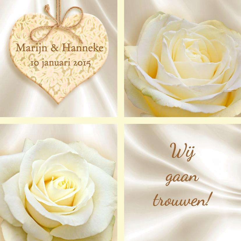 klassieke trouwkaart