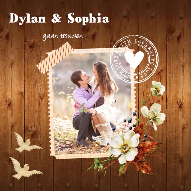 romantische trouwkaarten