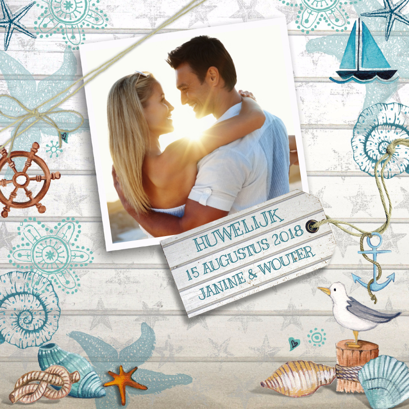 zomerse trouwkaarten maken