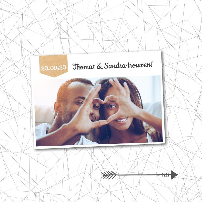 spontane foto trouwkaart