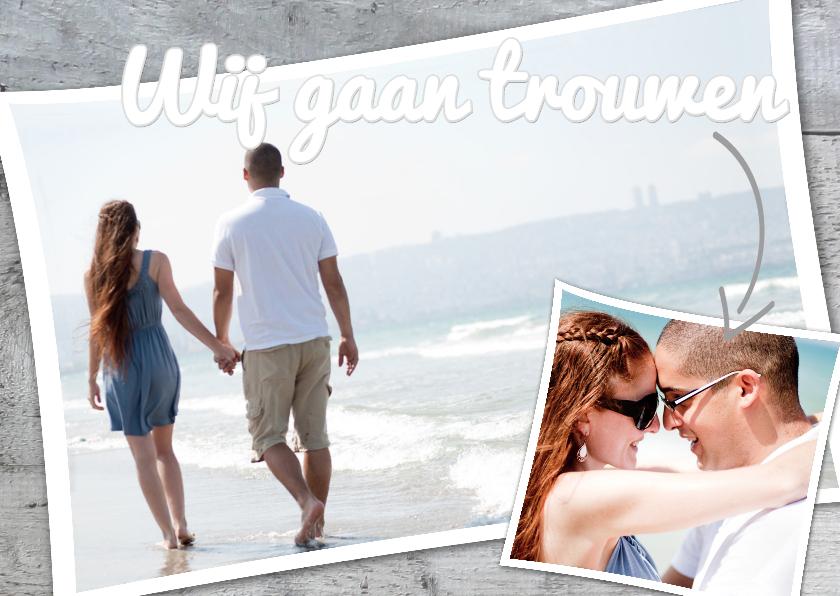 originele trouwkaart met foto