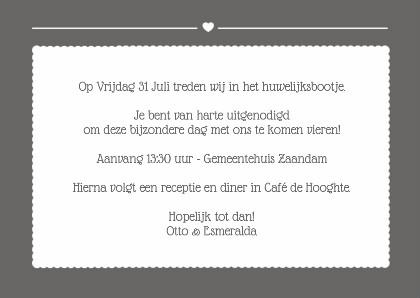 Beste nisa93smiley: Tekst Op Trouwkaart Uitnodiging BZ-71
