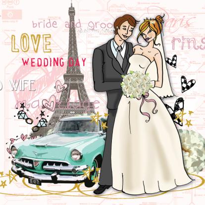 wedding-turquoise-car